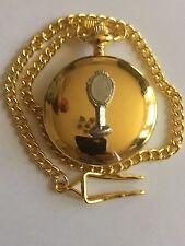Vanità specchio TG210 peltro su un Oro Quarzo Orologio Da Tasca Fob