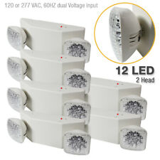 |6-Pack| 12 LED Twin Ultra Bright Emergency Exit Light - Standard Square Head