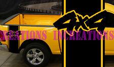 4x4 Hemi Dodge Ram Mopar Rear Bed Simple Stripes Truck Decals Stickers Set of 2