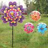 Double Layer Flower Windmill Wind Spinner Pinwheel Kids Toys Yard Garden Decor^D