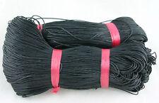 80m BAUMWOLLKORDEL GEWACHST 1mm Schwarz Kordel, Schnur Kord Wolle #BWK131