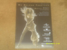 Mariah Carey sheet music We Belong Together 2005 10 pages (NM shape)