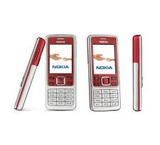 Nokia 6300 Rojo Plata Desbloqueado de red cámara Bluetooth Teléfono Móvil Clásico Reino Unido