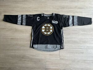 Boston Bruins Jersey Size Large Black & Grey #37 #C #100