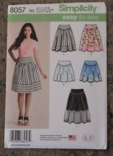 Simplicity Easy Sewing Pattern 8057 Misses Skirt Plus Size Size 14 16 18 20 22
