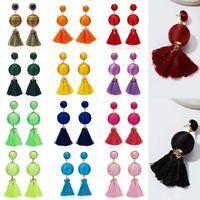 New Fashion Women's Fashion Bohemian Earrings Long Tassel Round Dangle Earrings