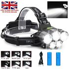 LED CREE T6 Rechargeable Head Torch Headlamp Work Light Lamp 60000LM Flashlight