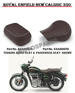 ROYAL ENFIELD NEW CLASSIC 350 TOURING RIDER SEAT & PASSENGER SEAT - BROWN