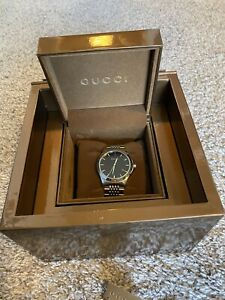 Authentic Gucci Men Watch BLACK FACE Ya126402 G-Timeless DATE WITH BOX AND TAGS