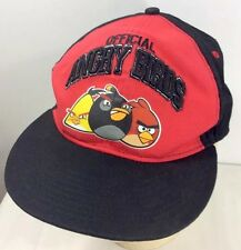 Angry Birds Baseball Cap Hat Black Red SnapBack 100% Cotton One Size Animations