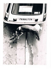 PHOTO DRÔLE CHIEN URINANT SUR RENAULT 5 !! Vintage print, PHOTO MOBA PRESSE