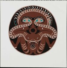 Susan Point 1990 Ltd Ed Silkscreen Snake Lady Signed Native Art