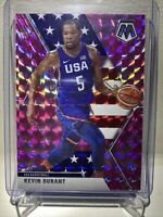 2019-20 Panini Mosaic Kevin Durant Team USA #251 Pink Camo Mosaic Prizm