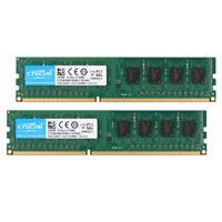 Intel Crucial 4GB 2X 2GB DDR3 1333MHZ PC3-10600U 240Pin DIMM Desktop Memory RAM