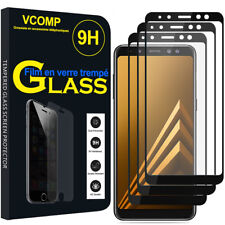3 Films Toughened Glass Protection Black Samsung Galaxy A8 (2018) A530F