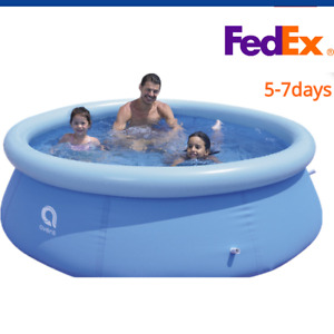12ft X 36 Quick Set Inflatable Above Ground Swimming Pool Kids Outdoor Fish Pond
