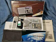 SONY ICF-2002  AM/FM/LW/SSB-CW SHORTWAVE RECEIVER in ORIGINAL BOX w/ ACCESORIES!