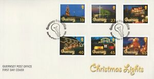 GUERNSEY CHRISTMAS LIGHTS 2001 FIRST DAY COVER FDC - NO ADDRESS