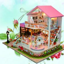 Handmade DIY Doll House With Furniture&Staircase For Barbie Dollhouse Kids Toys