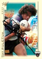 ✺Signed✺ 2003 PENRITH PANTHERS NRL Premiers Card TONY PULETUA