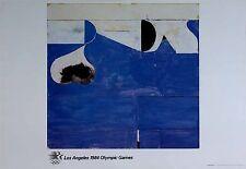"""Richard Diebenkorn Vintage 1984 Los Angeles Olympic Poster 24"""" x 36""""  *ORIGINAL*"""