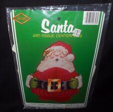 "10"" VINTAGE BEISTLE CREATION SANTA CHRISTMAS ART TISSUE DECORATION CENTERPIECE"
