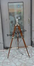 NEW DESIGNER WOODEN FLOOR LAMP, TRIPOD SHADE LAMP STAND DECORATIVE FLOOR LAMP
