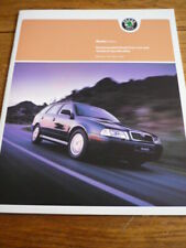 SKODA OCTAVIA SPECIFICATIONS & PRICE LIST BROCHURE MAY 2004