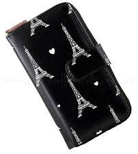 Vintage Pinup Large Black Heart PARIS Ladies Wallet ~ Purse Retro Travel 40s 50s