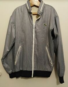 Vintage Chemise Lacoste 'Andy Pandy' blue striped jacket size 16 (M), as new
