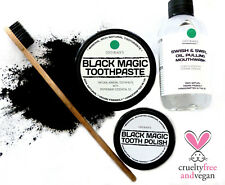 Charcoal Toothpaste + Charcoal Tooth Polish + Toothbrush  + Mint Oil Pulling