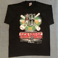 Vintage Harrisburg Senators T-Shirt Size XL Minor League Baseball MILB Nationals