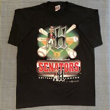 Vintage Harrisburg Senators T-Shirt Size XL Minor League Baseball MILB Nationals