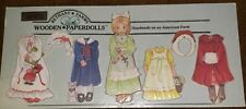 "Bethany Farms ""Amanda"" #8006 Wooden Paper Dolls Handmade Victorian Clothes Hat"