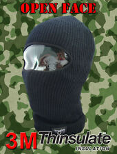 Open Faced Balaclava 3M 40g Thermal Thinsulate Lined Motorbike Fishing Ski Hat