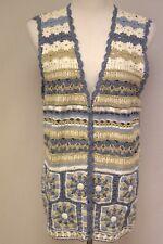 Blues Natural White Sweater Vest Size M Button Up NWT $40 Koret City Blues