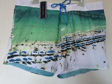 TOMMY HILFIGER SHORT DE BAIN HOMME TAILLE XL MALIBU SURF VERT LAGON