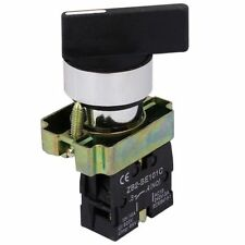 AC 240V 3A NO SPST Black Cap 2 Position Selector Latching Rotary Switch V6Y E9P2