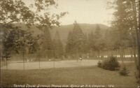 Dixville Notch White Mtns NH Tennis Courts c1910 Real Photo Postcard
