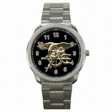 Navy Seal Trident Warfare Insignia US Stainless Steel Watch