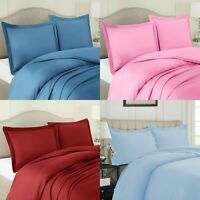 Flannelette Duvet Cover Bedding Set 100% Brushed Cotton Double Super King Sizes