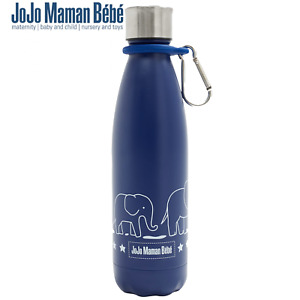 JoJo Maman Bebe Elephant Reusable Water Bottle 500ml with clip