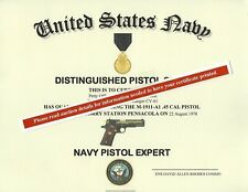U.S. Navy Expert Pistol Replacement Certificate
