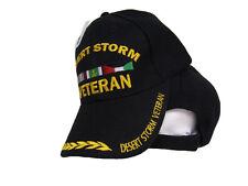 Désert Storm War Plume Noir Baseball brodé militaire chapeau us usa Casquette