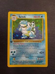 1998 Pokemon German 1st Edition Blastoise HOLO #2/102 Base Set Near Mint!
