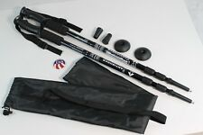 One Pair Trekking Walking Hiking Sticks Poles Alpenstock anti-shock Bag Black