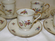 TIRSCHENREUTH GERMANY THE COLWYN 4562  Set of 7 Demitasse Cups Saucers