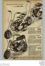 1971 PAPER AD 2 Pg Mini Cycle Cat Bike Ski Endura Chain Drive Torque Converter