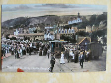 Philco Series 2402 Post Card. Tram Station, Derby Castle, Douglas. UK P&P inc