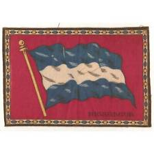 "Tobacco Flag Nicaragua 1900's flannel-felt 8""x5.25"" cigar/cigarette premium ᵇ F1"